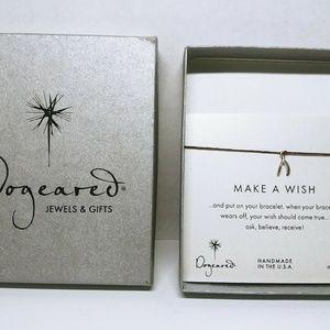 Dogeared Make a Wish, wishbone bracelet Handmade i